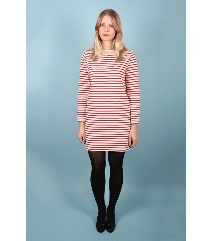 Samuji Stripe Cotton Dress, L - WST