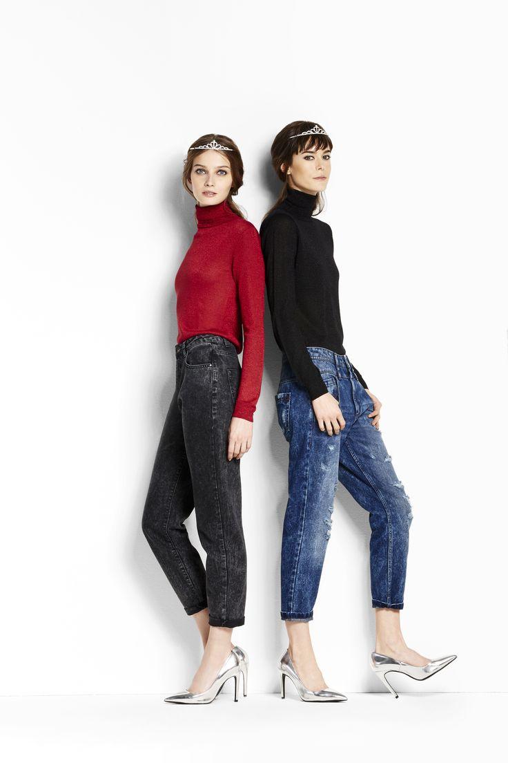 Sparkling holidays. Dolcevita e jeans con un tocco di glitter! #OVS #OVSaw15