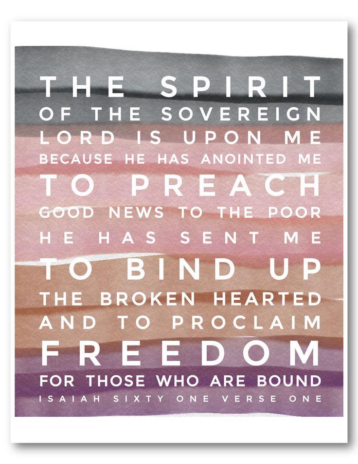 Bible verse print: Isaiah 61 | Naptime Diaries