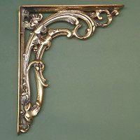 Ornate brass Victorian Scroll Leaf Shelf Brackets are available as a pair and are made from solid cast brass in the traditional way.  Over time these shelf brackets will take on a beautiful patina as they slowly tarnish.