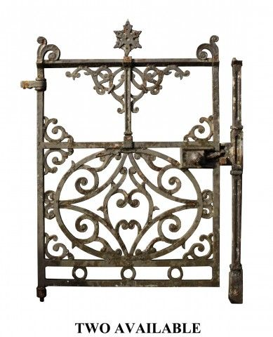 Victorian Cast Iron Side Gate With Post Uk Architectural