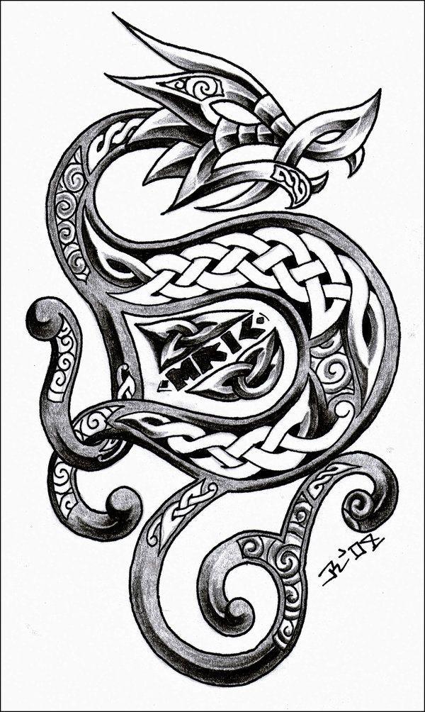 The 25+ best Celtic dragon tattoos ideas on Pinterest ...