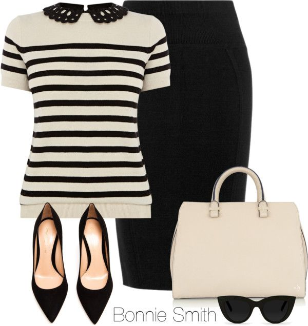 Work outfit - skirt should be knee or above knee length for G