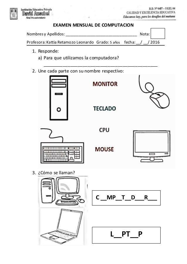 Imagen Relacionada Computadora Para Colorear Computer Lessons Y