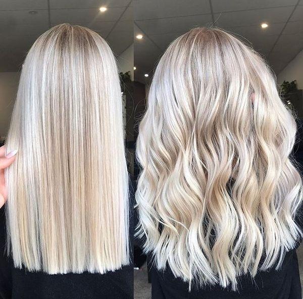Hellblonde Highlights Schöne Blonde Haare Aschblondes