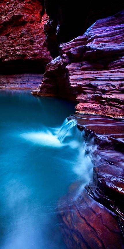 The Pilbara Karijini National Park  in Australia.