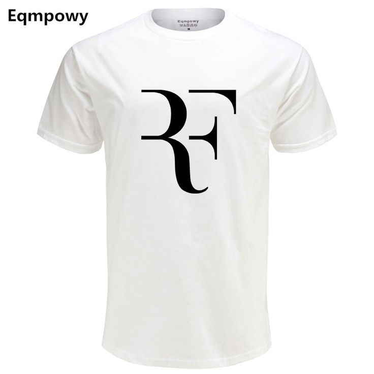Eqmpowy Fashion Roger Federer RF Print T Shirt Men Short Sleeve Tshirts Tops Hip Hop T. Click visit to buy #T-Shirts