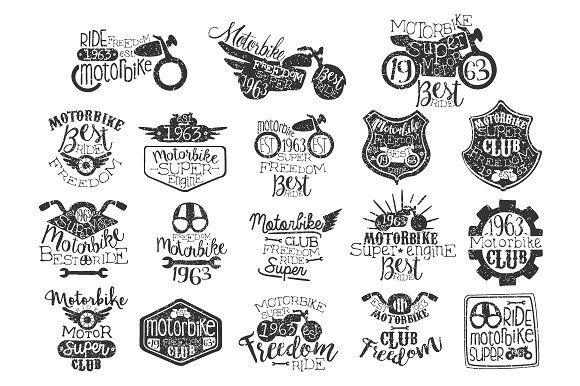 Motorbike Vintage Stamp by TopVectors on @creativemarket