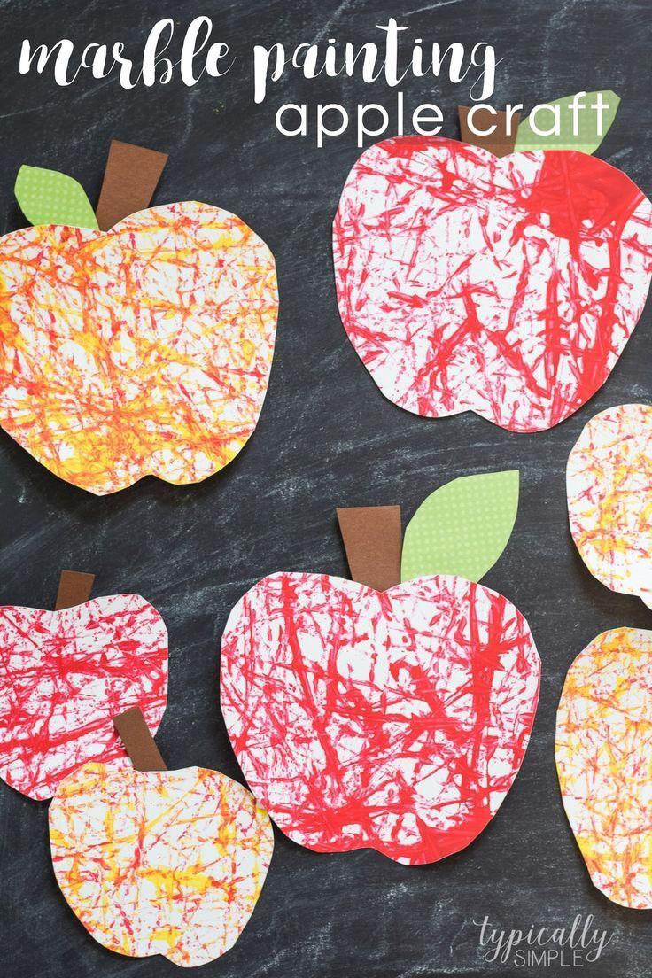 Marmormalerei Apple Craft