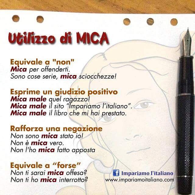 SnapWidget | Utilizzo di MICA #learningitalian #learnitalian #studyitalian…