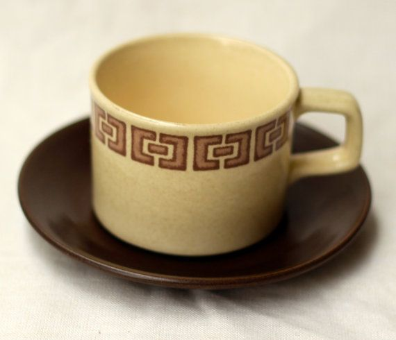 Johnson of Australia geometric pattern cup saucer by modernlookvintage, $5.00