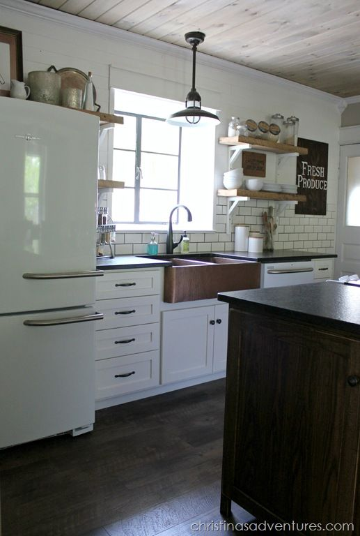 More kitchen inspiration - love these appliances! The rest may be a bit too rustic / kitschy since we're blending MCM with industrial throughout.
