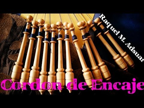 019 Cordón de Encaje de Bolillos - Curso Guipur - Tutoriales Raquel M. Adsuar Bolillotuber - YouTube