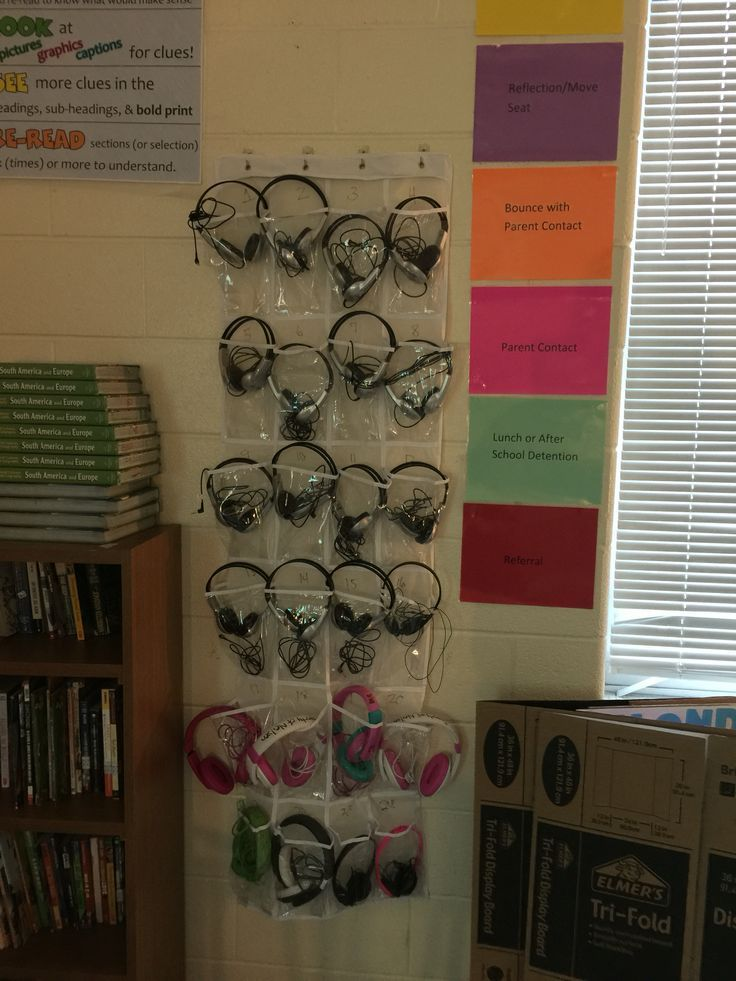 Headphone storage for the classroom
