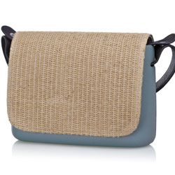 Raffia Flap - O Pocket accessory Shoulder bag