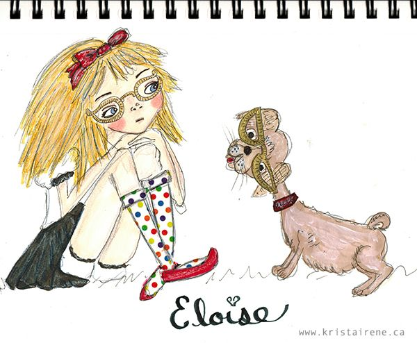 Eloise and Weenie Illustration - artwork by Krista Irene Tannahill