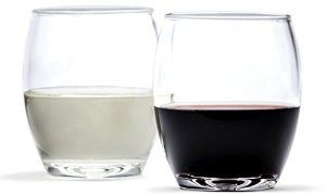 Amazon.com | Cruvina Plastic Wine Glasses, Stemless, Shatterproof, Unbreakable Crystal Clear Cups, 4 Cups - 13 oz: Wine Glasses