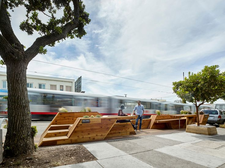 San Francisco Replaces Street Parking With The Sunset Parklet | Public Space | Pinterest | Urban design, Urban and Street furniture