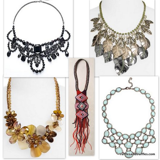 Statement necklace roundup...for all budgets!