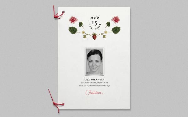 Wedding Program, by Cecilia Hedin in Invites
