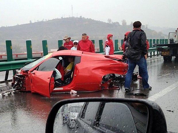 106 best Wrecked Super Cars images on Pinterest | Super cars ...