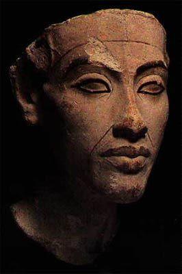 Portrait of Egyptian pharaoh Akhenaton, ca. 1355 B.C.