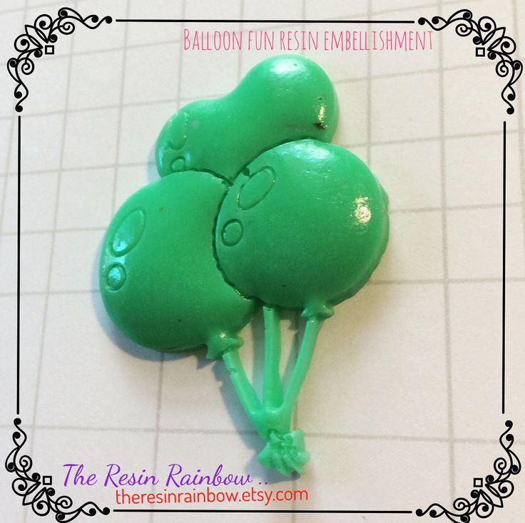 birthday balloons!  resin craft embellishment #theresinrainbow #mixedmedia #collage #scrapbooking #cardmaking #planneraccessories