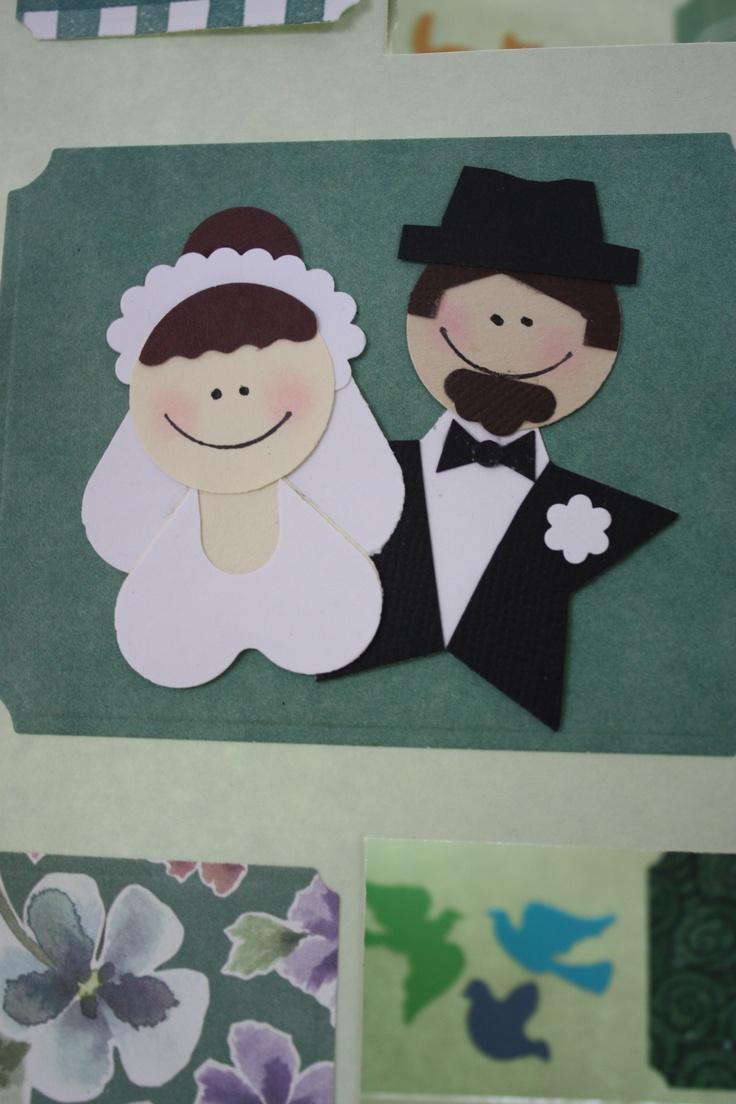 Outside of anniversary card - paper punch art - us in the past
