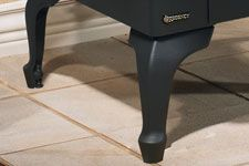 BASE: Cast Iron Legs -  Cast iron legs in Black or Brushed Nickel. This base is available for Regency F33 #Bases #Gas #Regency #HearthHouse