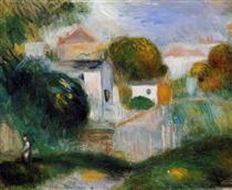 Houses in the Trees - Pierre-Auguste Renoir