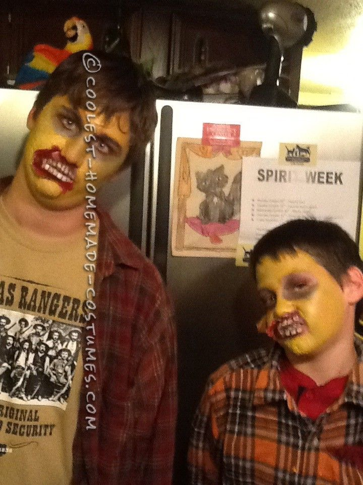 Homemade Zombie Costumes and Makeup... Coolest Halloween Costume Contest