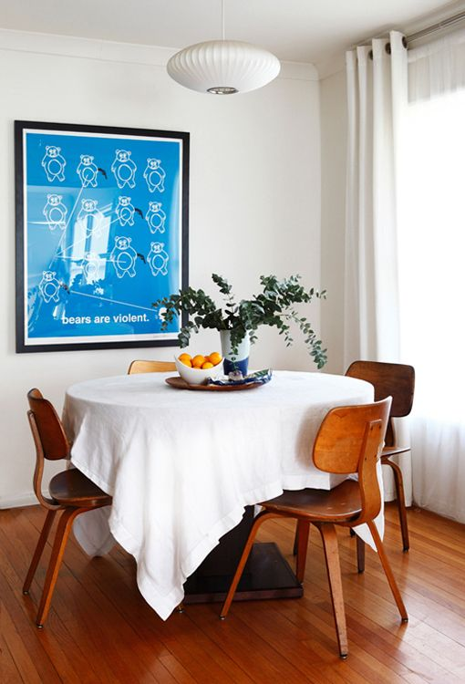 this is what i will do with my current table...so simple and pretty!