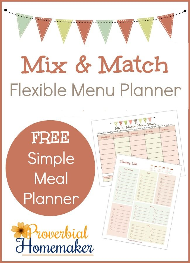 Love how this flexible menu planner is laid out! The video is really helpful too.