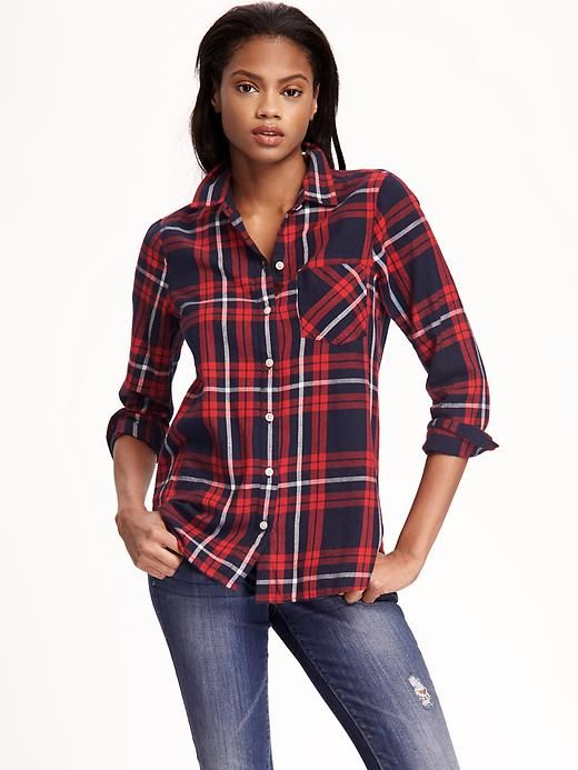 Womens Pink Flannel Shirt