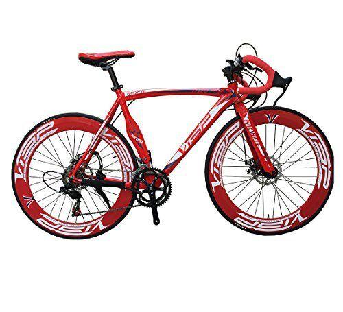 VP A01 Red 48 cm, 51 cm, 54 cm 700C 14 Gears Men Road Bike Speed Road Bicycle Mechanical Disc Brakes - http://www.bicyclestoredirect.com/vp-a01-red-48-cm-51-cm-54-cm-700c-14-gears-men-road-bike-speed-road-bicycle-mechanical-disc-brakes/