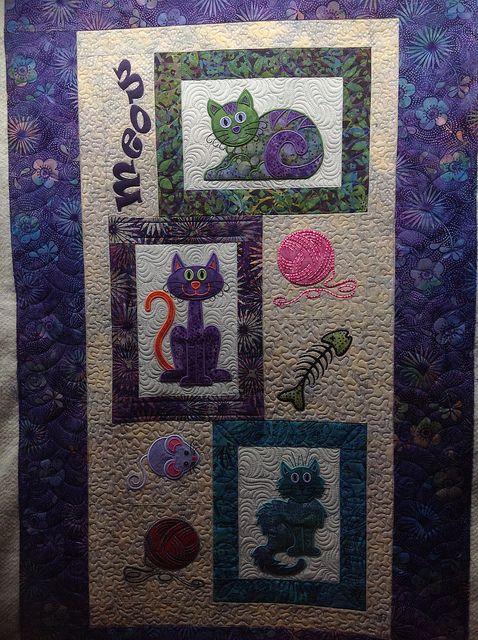 1000+ images about kattenquilt on Pinterest Cats, Quilt and Patchwork quilt patterns