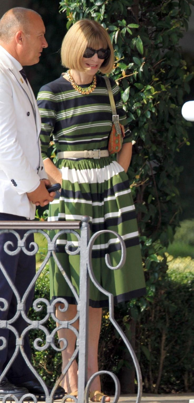 Anna Wintour joined actor George Clooney for a pre-wedding breakfast with Cindy Crawford and husband George Clooney at the swanky Cipriani Hotel in Venice on Sept. 27, 2014.