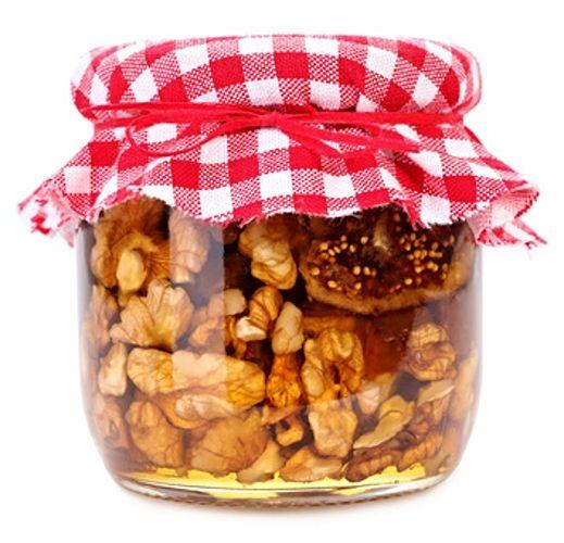 Ořechy v medu