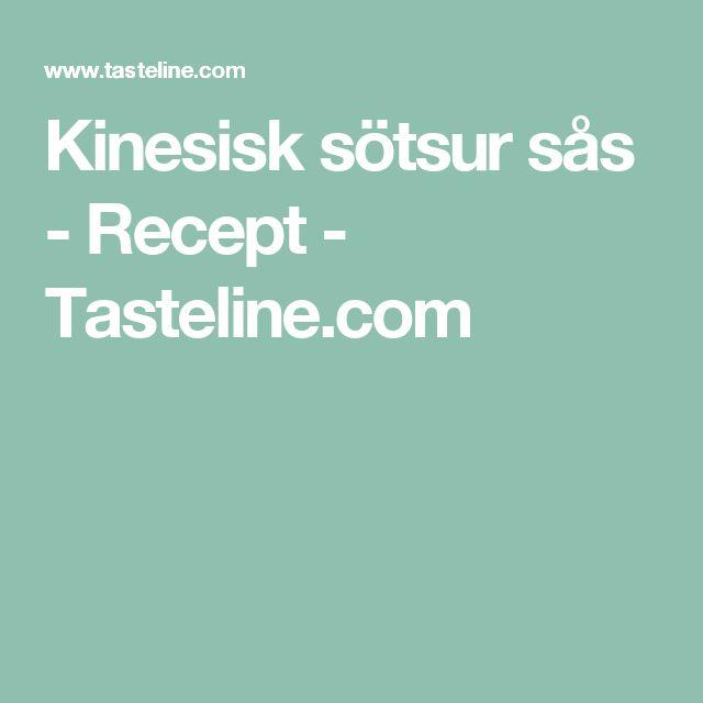 Kinesisk sötsur sås - Recept - Tasteline.com