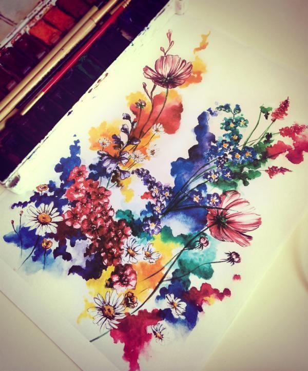 Тату Растения в стиле Акварель из категории Цветы