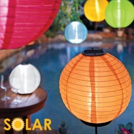 solor powered lanterns, no cord or power needed