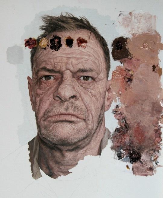 Colin Chillag paintings grumpy man