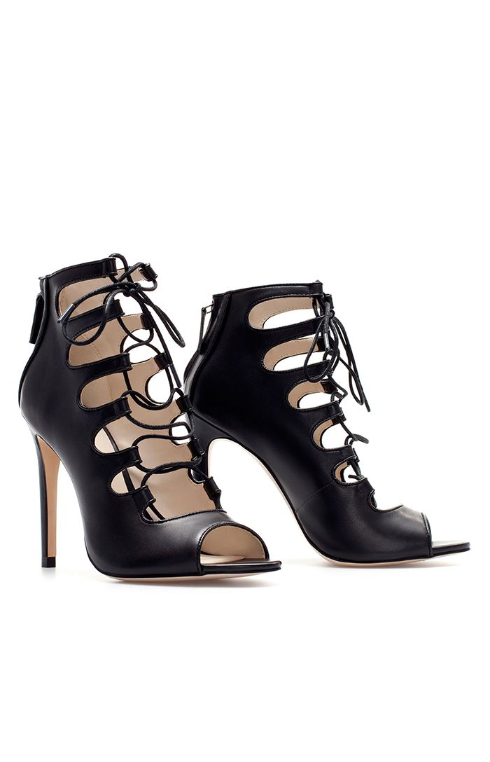 Lace up heels very sexy and edgy Got to get my hands on these!
