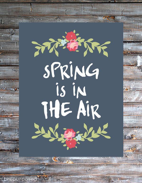 Spring is in the Air Free Printable :: Friday's Fab Freebie :: Week 44 - brepurposed
