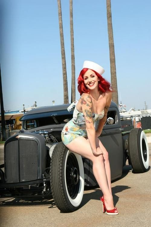 Red Head Rat Rod: Pin Up Poses, Hair Colors, Red Hair, Rats Rods, Redheads, Pinup, Hot Rods, Red Head, Pin Up Girls