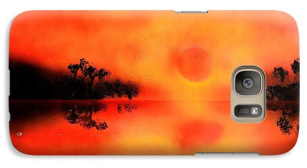 Joy Of The Sun Galaxy S7 Case Printed with Fine Art spray painting image Joy Of The Sun by Nandor Molnar (When you visit the Shop, change the orientation, background color and image size as you wish)