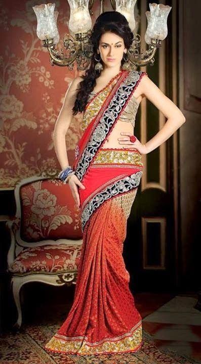 Saree Collection 2014 | Indian Saree 2014 for Brides | Designer Bridal Saree 2014 ~ Zem Tv Photo Shoots