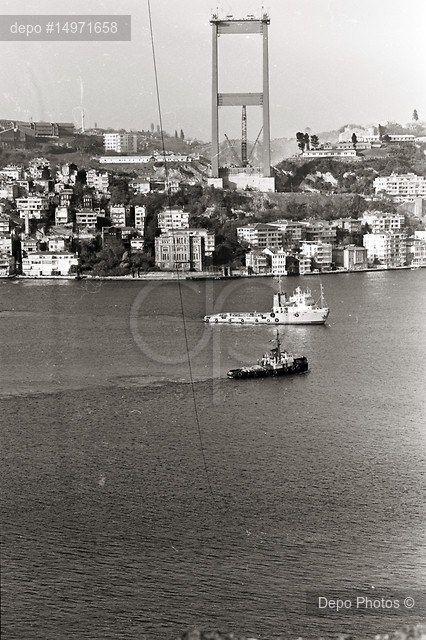 Fatih Sultan Mehmet Köprüsü'nün sadece ayağının olduğu 1986 yılı.