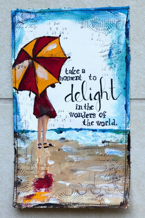 Especially the wonders in your world. This blog has beautiful journal pages with great quotes to inspire your writing. Weekly Art Journal « karenika