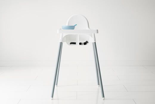 IKEA Highchair.  This is easy to clean, sturdy, cheap enough to be worth the short period of time before you hopefully find a convertible, gorgeous European style high chair on the side of the road that your child has just grown into but still fits your child when the Stokke find takes a while to happen.